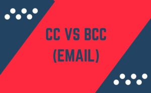 cc, bcc (email)
