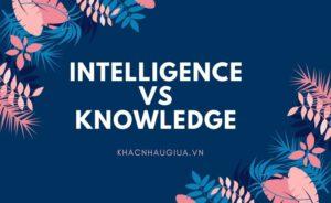 Khác nhau giữa Intelligence và Knowledge